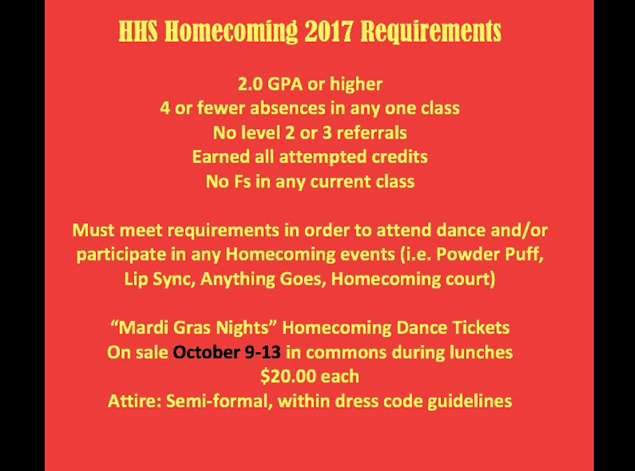 Homecoming Week: October 9-13, 2017