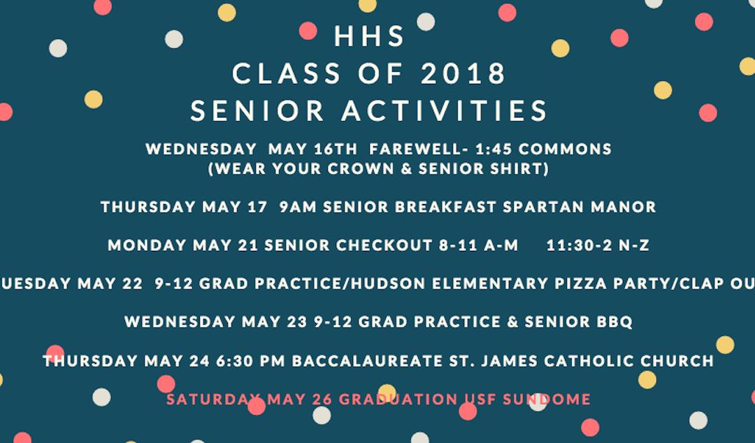 2018 Senior Activities