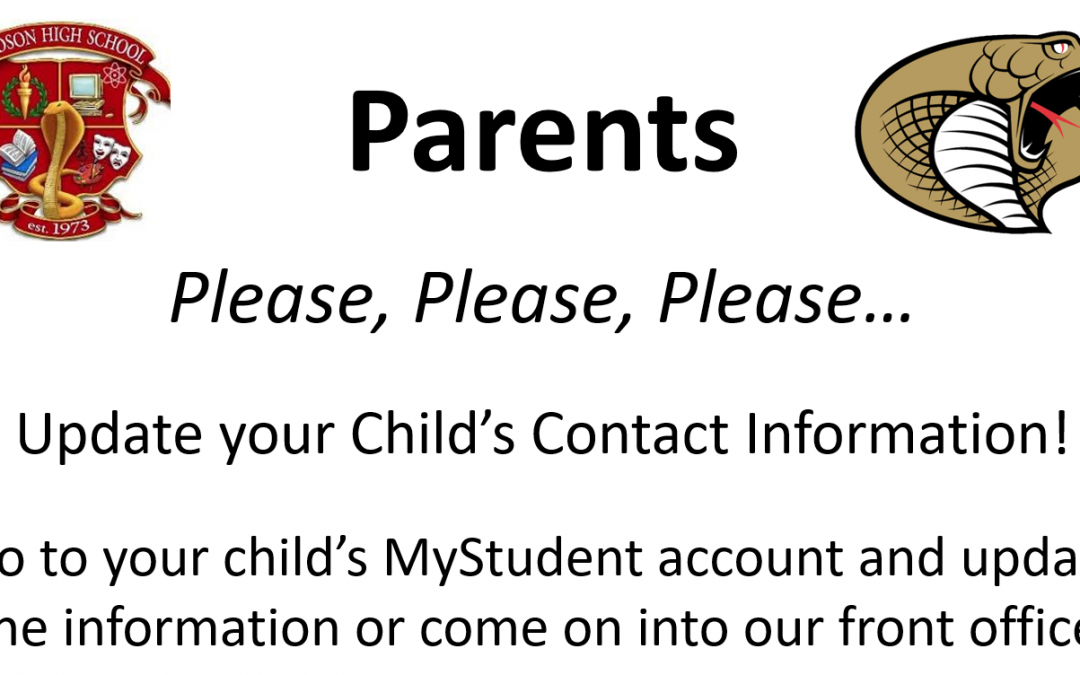 Child's Contact Information – Updates