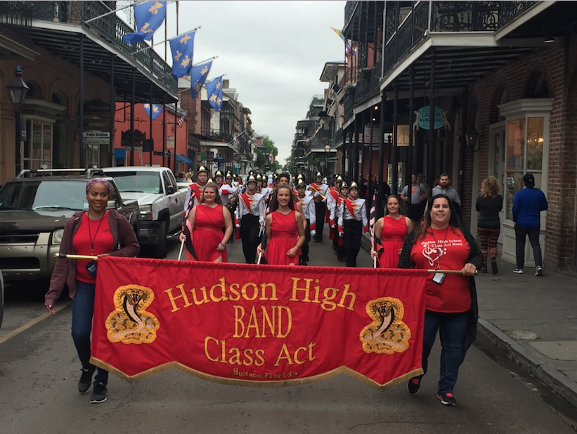 Class ACT Band marches in New Orleans, LA.