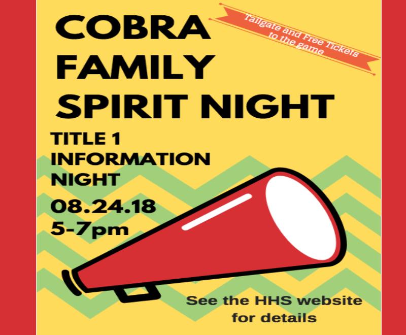 Cobra Family Spirit Night
