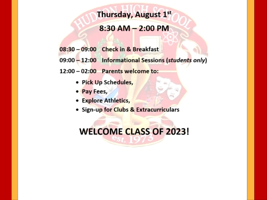 9th Grade Orientation & Registration